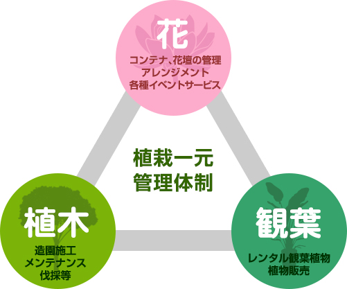 グリーンアクトの一元管理体制